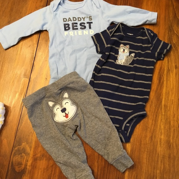 d8eb54543 Carter's Matching Sets | Carters Baby Boy 3 Month Wolf Outfit | Poshmark
